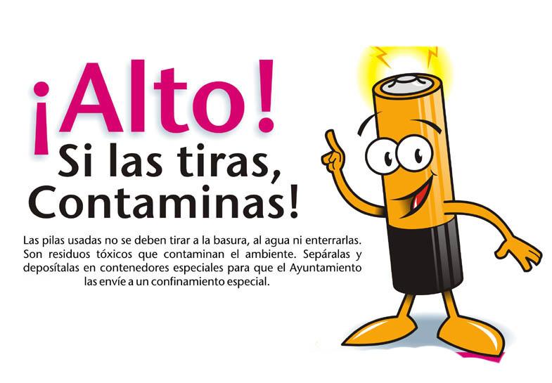 el ayuntamiento regalara contenedores de pilas en el dia mundial del
