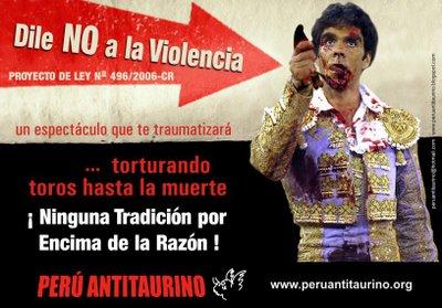 AFICHE GENERAL PERU ANTITAURINO